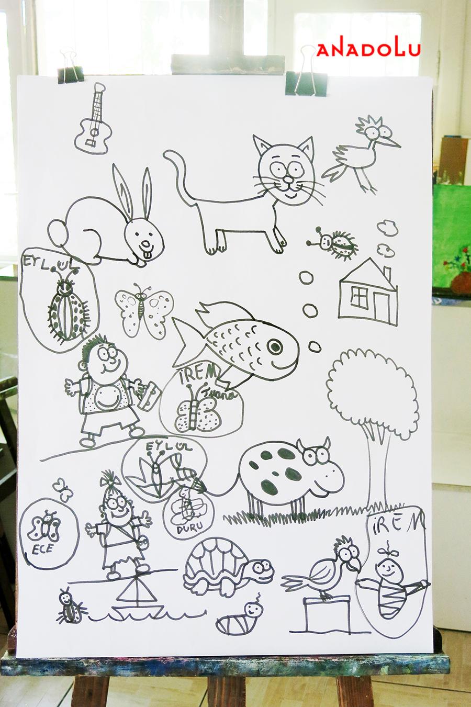 Çocuklarla Karakalem Çalışmaları Adana
