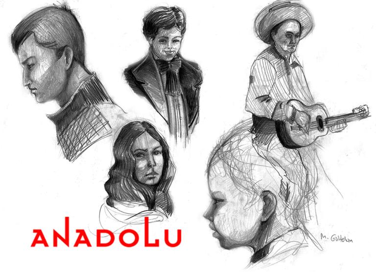 Karakalem İnsan Çizim Çalışmaları Adana